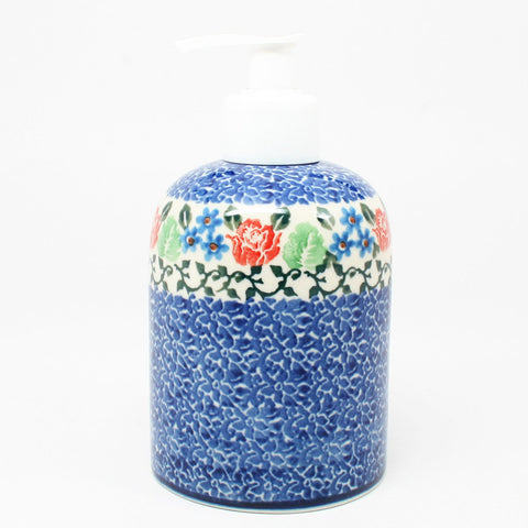 polish-pottery-soap-dispenser-#1498