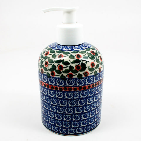 polish-pottery-soap-dispenser-#1543