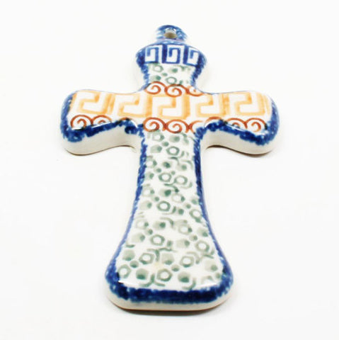 polish-pottery-medium-cross-#050