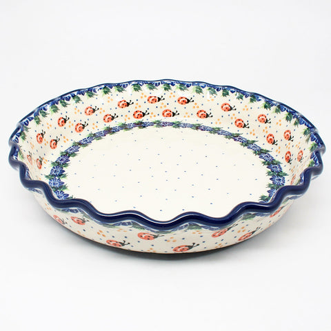 polish-pottery-ruffled-pie-plate-#1759