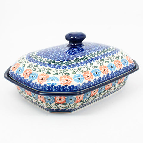polish-pottery-covered-baking-dish-#1369