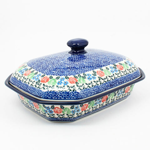 polish-pottery-covered-baking-dish-#1498