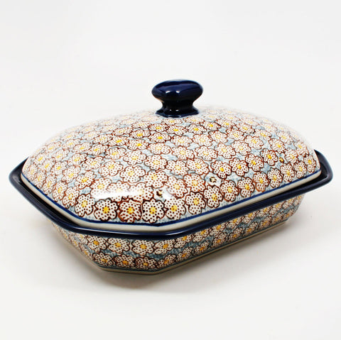 polish-pottery-covered-baking-dish-#2113