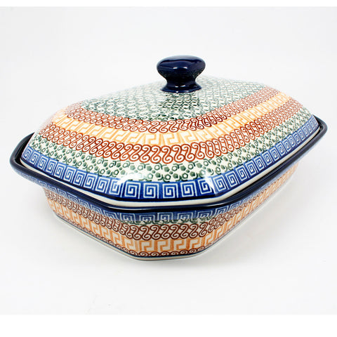 polish-pottery-xlarge-covered-baking-dish-#050