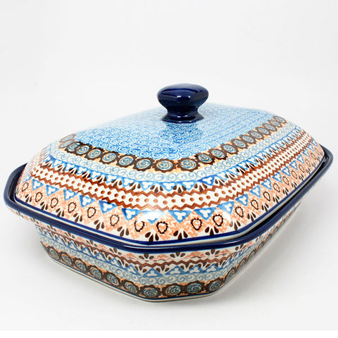 polish-pottery-xlarge-covered-baking-dish-#1359