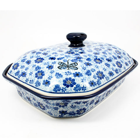 polish-pottery-xlarge-covered-baking-dish-#1443