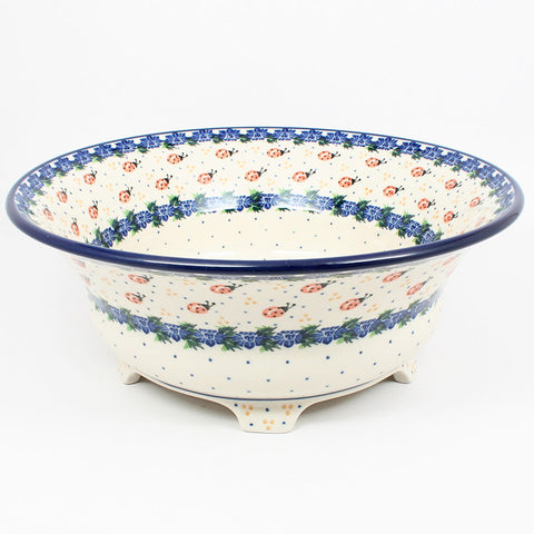 polish-pottery-stunning-large-footed-bowl-#1759