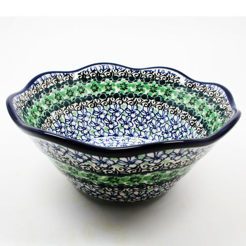 polish-pottery-wavy-bowl-#1479