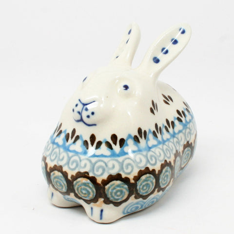 polish-pottery-miniature-bunny-rabbit-#1359