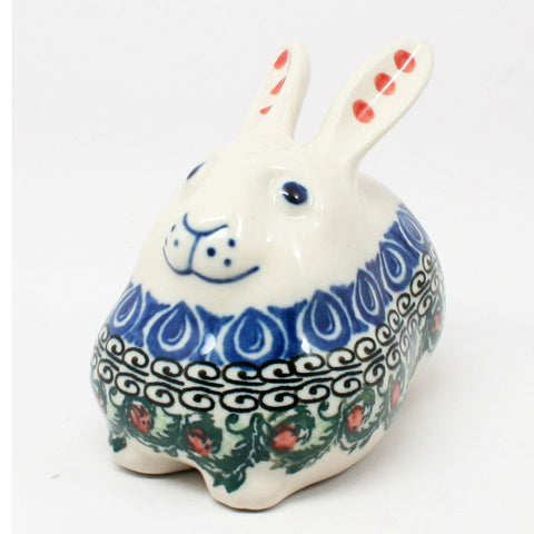 polish-pottery-miniature-bunny-rabbit-#1624