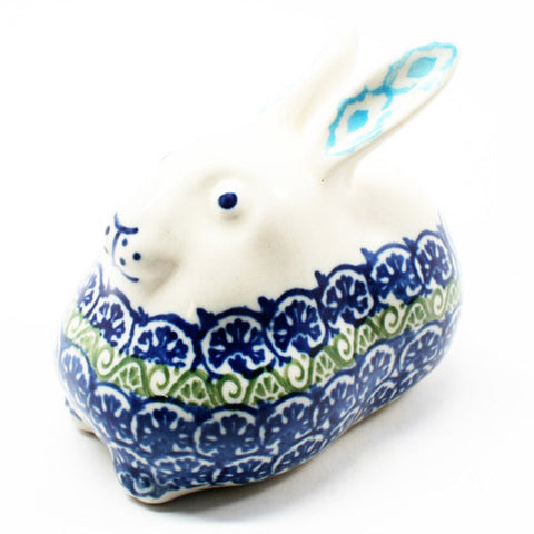 polish-pottery-miniature-bunny-rabbit-#1858