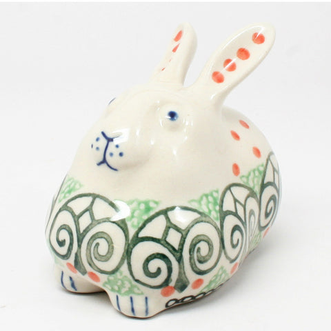 polish-pottery-miniature-bunny-rabbit-#826