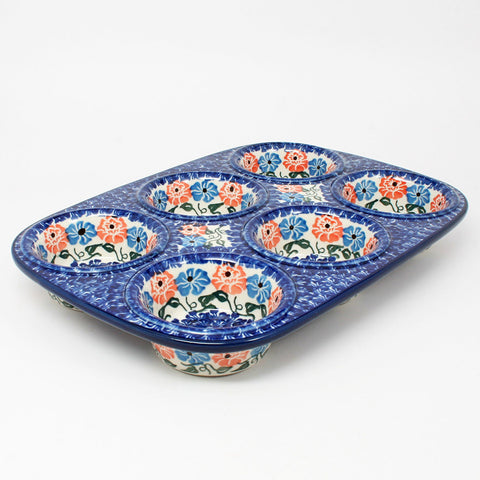 polish-pottery-muffin-pan-#1369