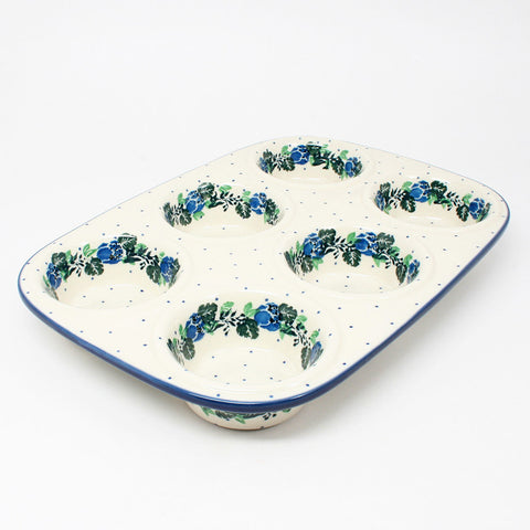polish-pottery-muffin-pan-#1533