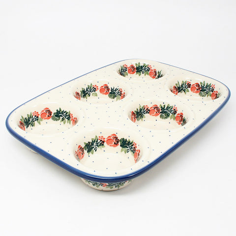 polish-pottery-muffin-pan-#1535