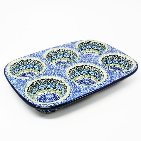 polish-pottery-muffin-pan-#1858