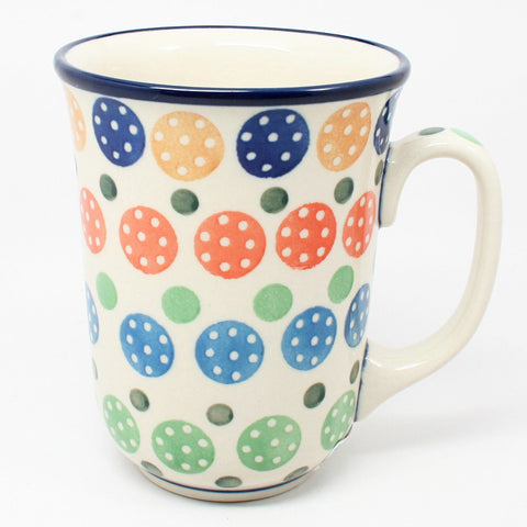 polish-pottery-tall-bistro-mug-#1126