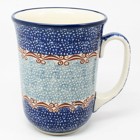polish-pottery-tall-bistro-mug-#1263