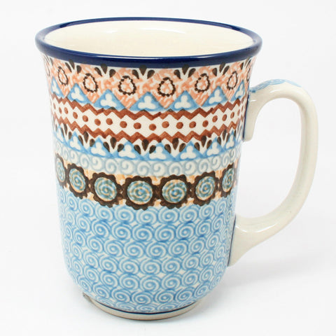 polish-pottery-tall-bistro-mug-#1359