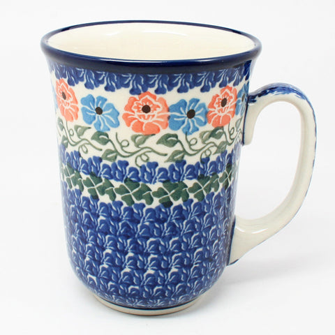 polish-pottery-tall-bistro-mug-#1369