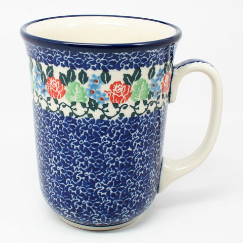 polish-pottery-tall-bistro-mug-#1498