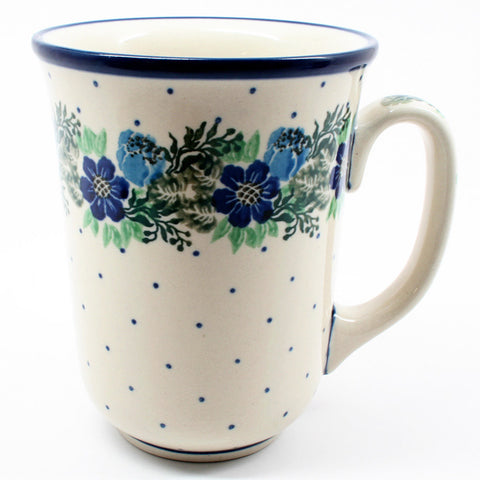 polish-pottery-tall-bistro-mug-#1533