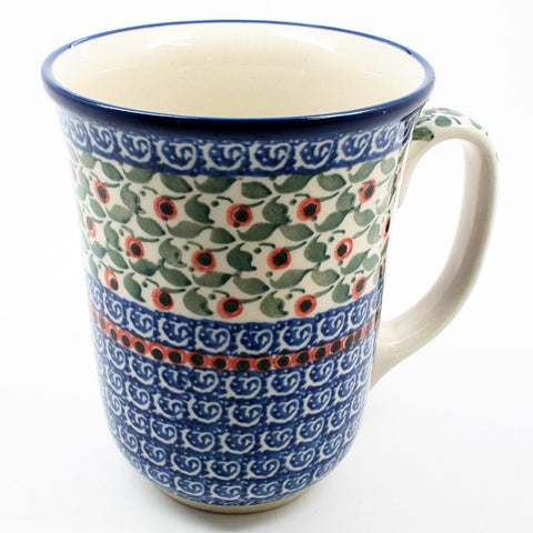 polish-pottery-tall-bistro-mug-#1543