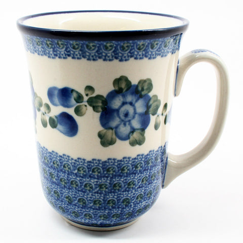 polish-pottery-tall-bistro-mug-#163