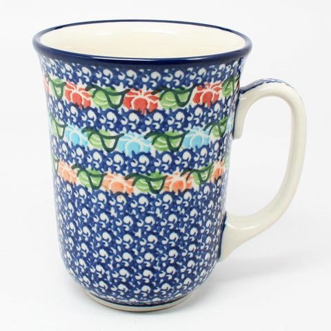 polish-pottery-tall-bistro-mug-#1725