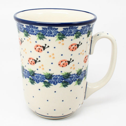 polish-pottery-tall-bistro-mug-#1759