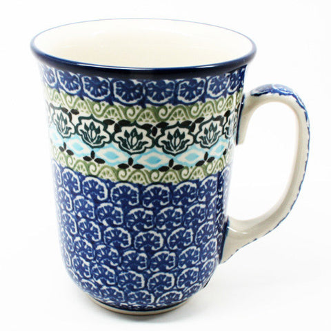 polish-pottery-tall-bistro-mug-#1858