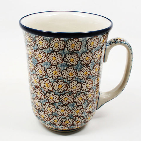 polish-pottery-tall-bistro-mug-#2113