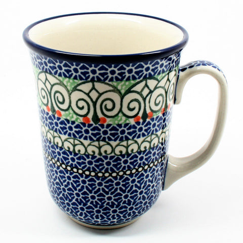 polish-pottery-tall-bistro-mug-#826