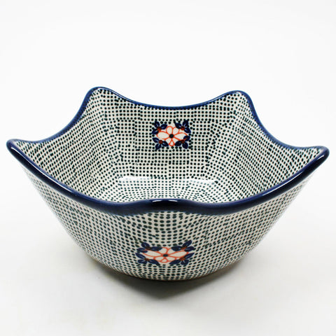 polish-pottery-star-shaped-bowl-#1307