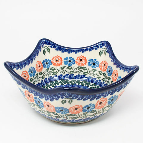 polish-pottery-star-shaped-bowl-#1369