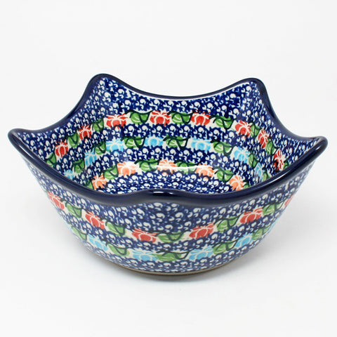 polish-pottery-star-shaped-bowl-#1725