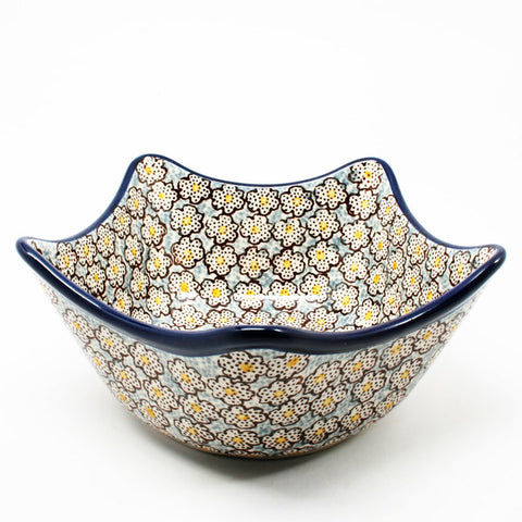 polish-pottery-star-shaped-bowl-#2113