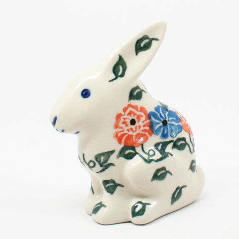 polish-pottery-rabbit-figurine-#1369