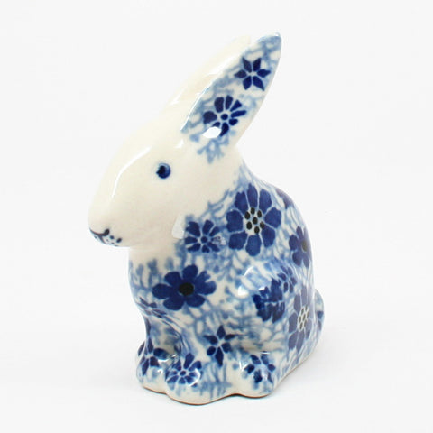 polish-pottery-rabbit-figurine-#1443