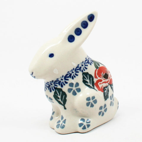 polish-pottery-rabbit-figurine-#1490