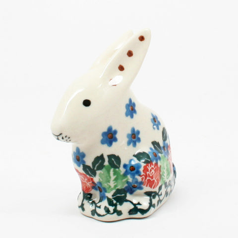 polish-pottery-rabbit-figurine-#1498