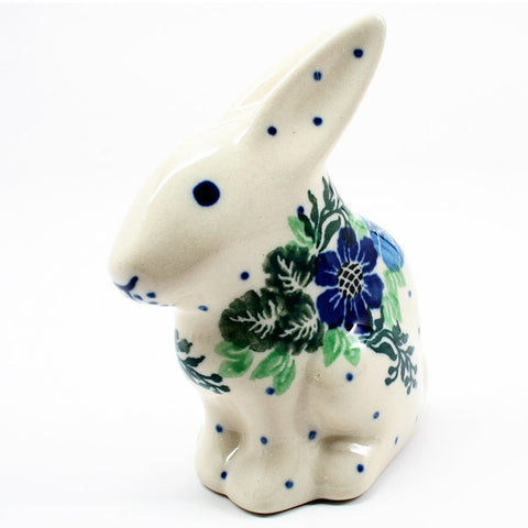 polish-pottery-rabbit-figurine-#1533