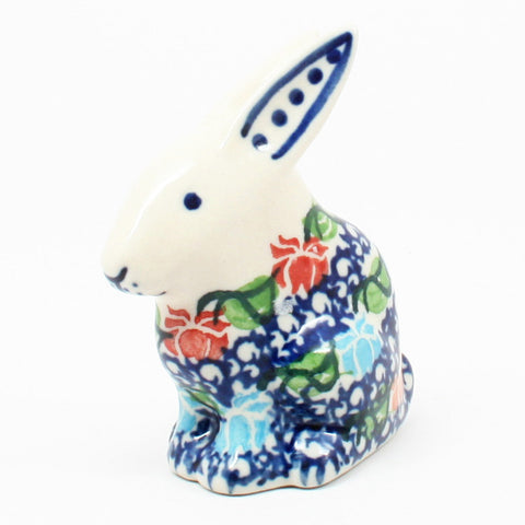 polish-pottery-rabbit-figurine-#1725