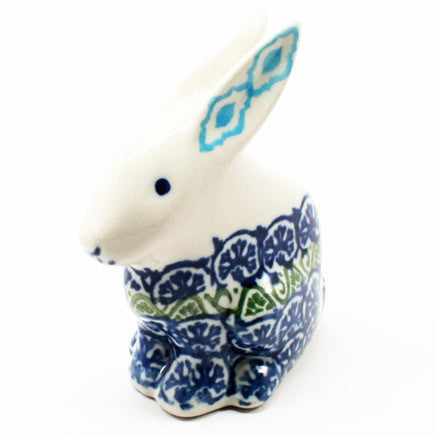 polish-pottery-rabbit-figurine-#1858