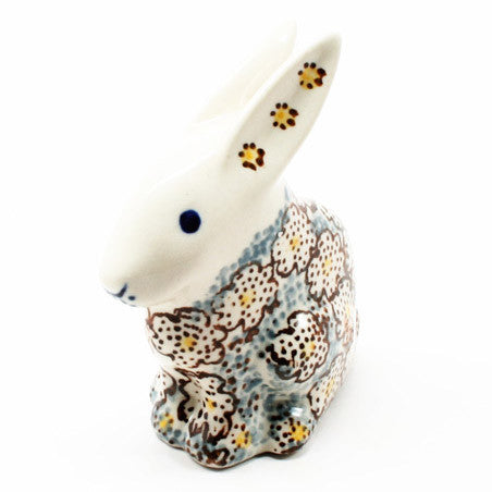 polish-pottery-rabbit-figurine-#2113
