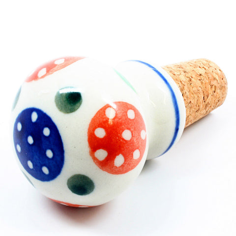 polish-pottery-wine-cork-stopper-#1126
