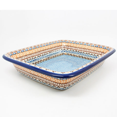 polish-pottery-large-rectangular-baker-#1359