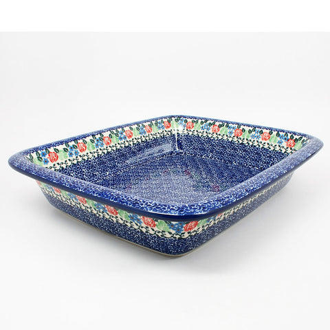 polish-pottery-large-rectangular-baker-#1498