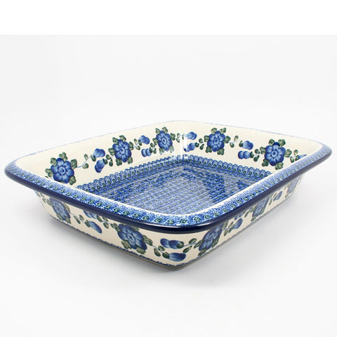 polish-pottery-large-rectangular-baker-#163