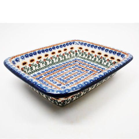polish-pottery-medium-rectangular-baker-#1207